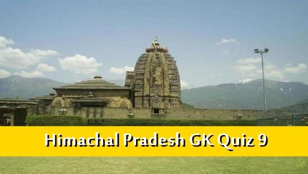 Himachal Pradesh History Gk Quiz Online MCQ -9