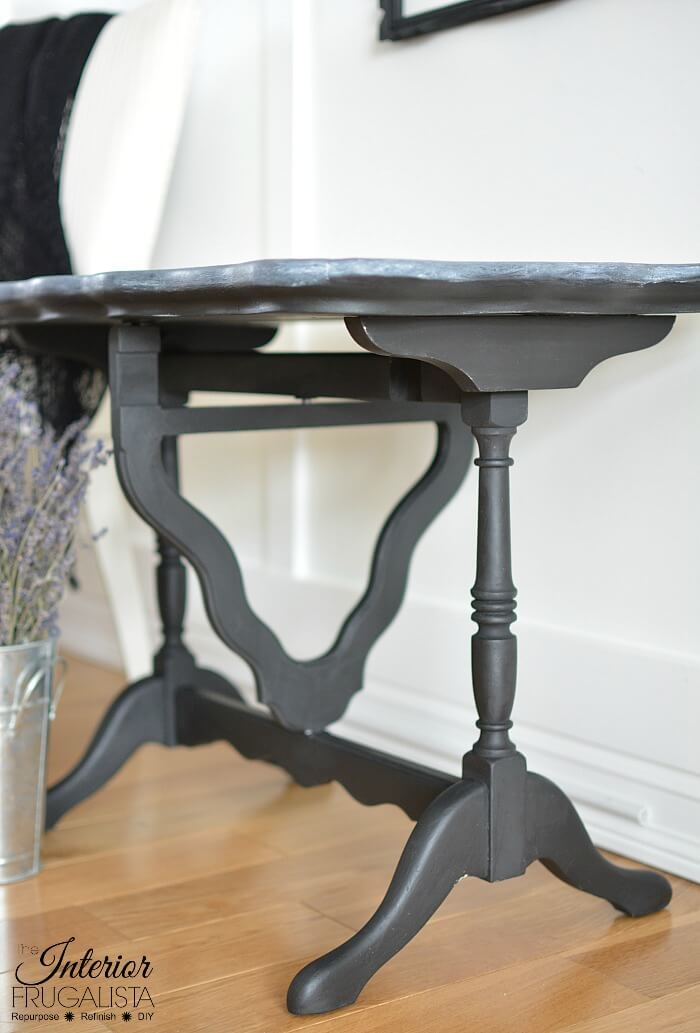 Black Flip Top Table Base