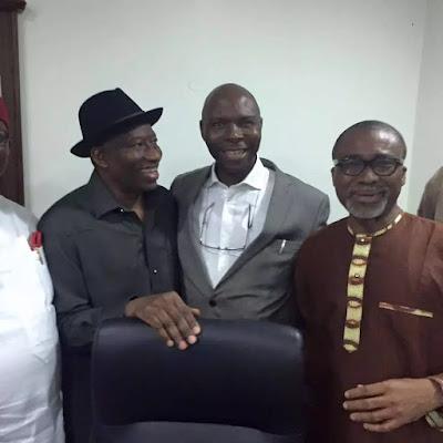 PDP Senators visits former president Dr Goodluck Jonathan