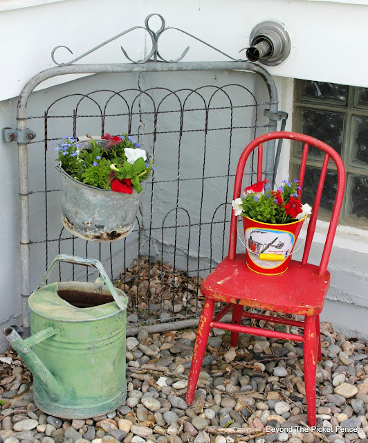 "Beyond The Picket Fence: Junk ""Planters"""