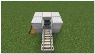 Minecraft 高速トロッコ輸送 アイテム荷降ろし駅 作り方④