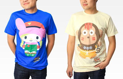 Street Fighter x Sanrio T-Shirt Collection - My Melody as Cammy & Monkichi as Dhalsim