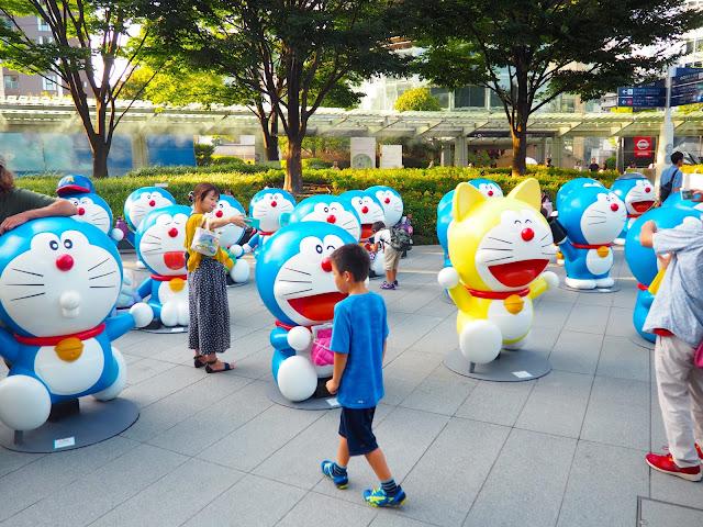 Doraemon statues in Roppongi Hills, Tokyo, Japan