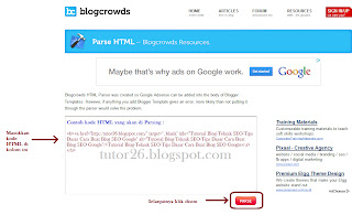 Tool Parse Kode HTML pada Template Blogspot