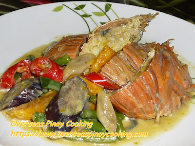 Ginataang Pitik, Slipper Lobsters Recipe