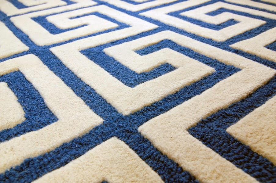 handgetuftete Schleife Schnitt Teppich