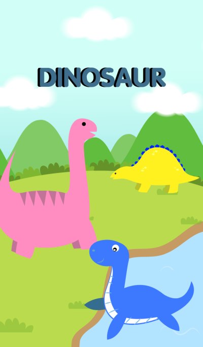 Cute Dinosaurs Theme