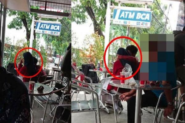 Masih Pakai Seragam, Sepasang Remaja di Surabaya ini Bermesraan di Minimarket