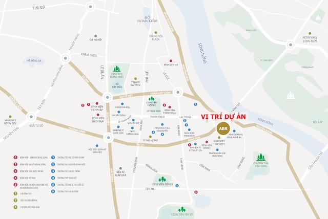vị trí nổi bật của dự án Amber Minh Khai