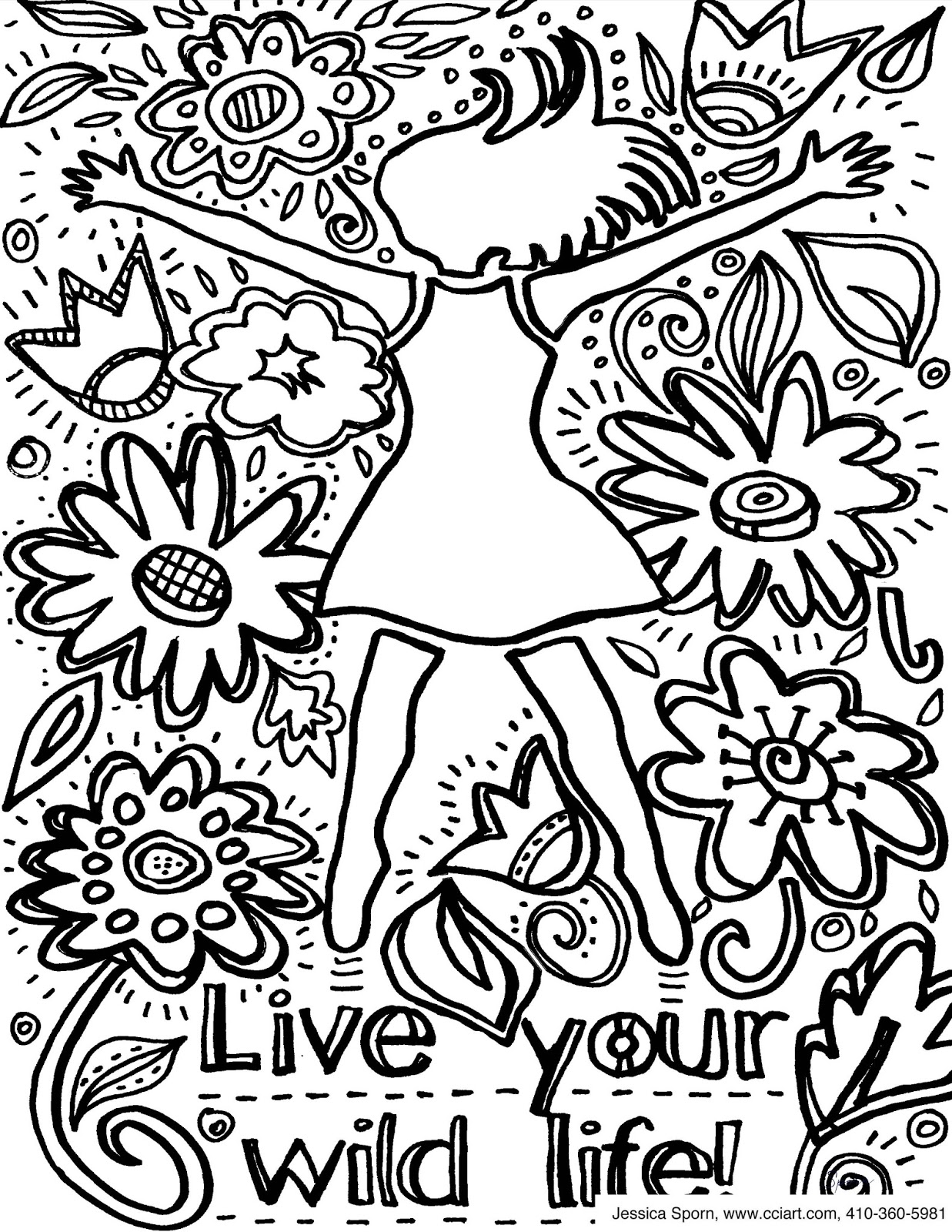 Jessica Sporn Designs: How To Create Your Own Coloring Pages With