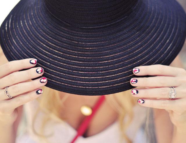 ikat nails, nail art manicure