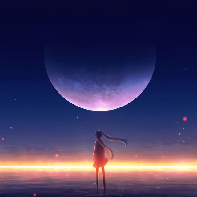 Lonely Anime Girl Animated Wallpaper