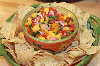 Watermelon Salsa on Gourmet Girls originally from Our Best Bites