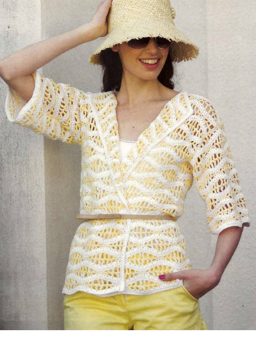 Patron Crochet Chaqueta de Flores