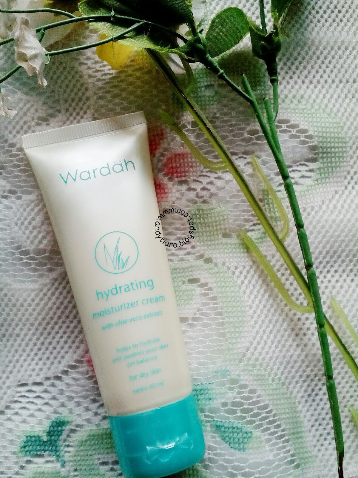 Kemasan Tube Tampak Depan Wardah Hydrating Moisturizer Cream for Dry Skin