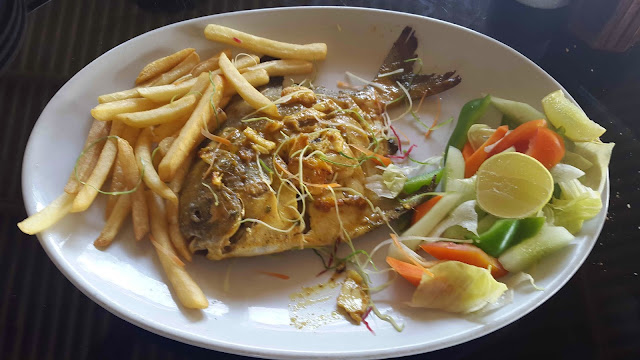 Masala Grilled Pomfret at Fish Tail