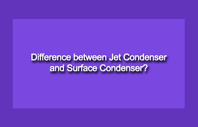 Difference between direct contact and indirect contact condenser