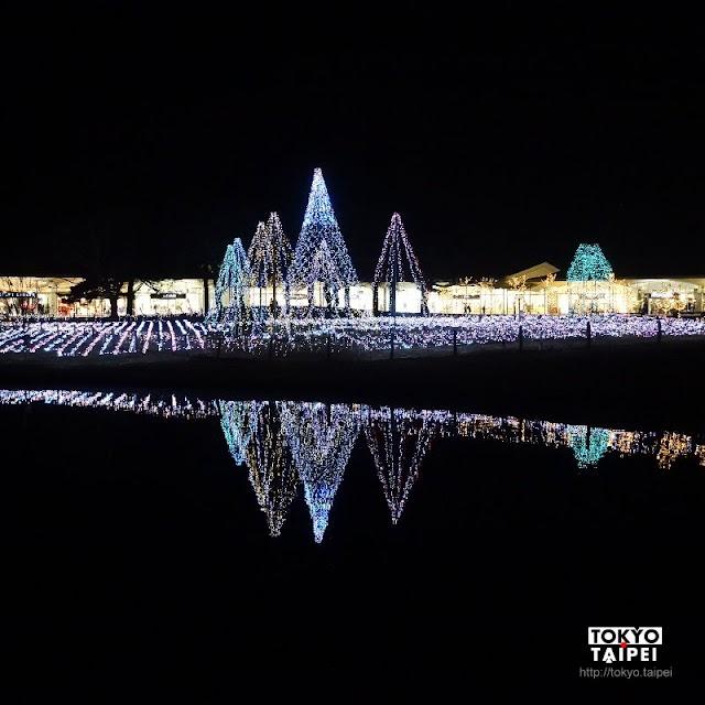 【輕井澤王子購物廣場Illumination】購物中心被10萬顆燈泡點亮 湖中還有倒影