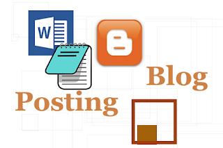 Cara Copy artikel dari Microsoft word ke blogger