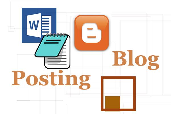 Cara Copy artikel dari Microsoft Word ke media Posting Blogspot