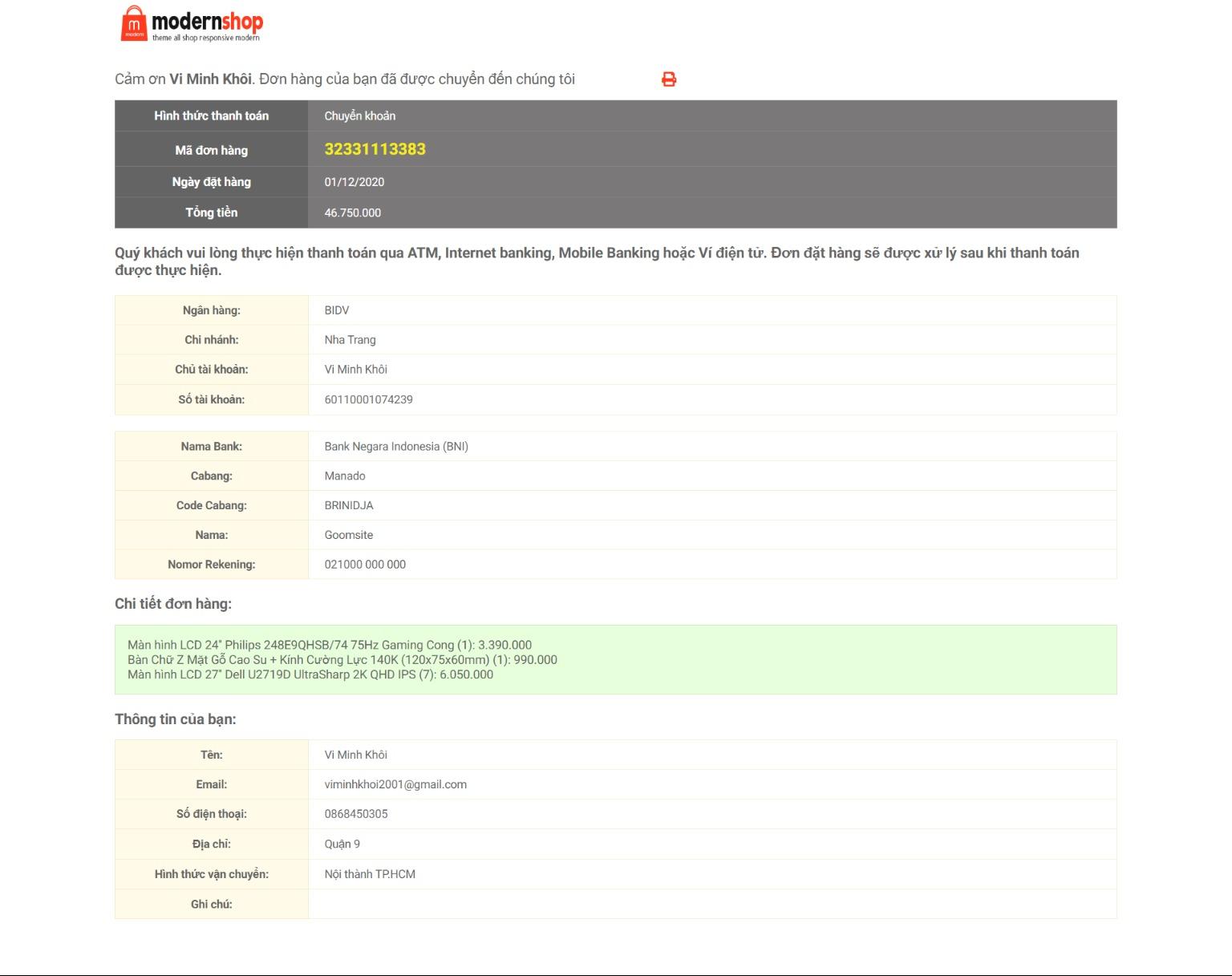 Free ModernShop Responsive Blogger Template