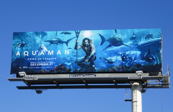 Aquaman sharks billboard