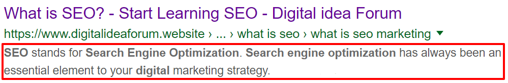 Meta Tags for better SEO - Digital idea Forum