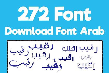 272+ Download Font Arab | Kumpulan Font Arab Keren Terbaru