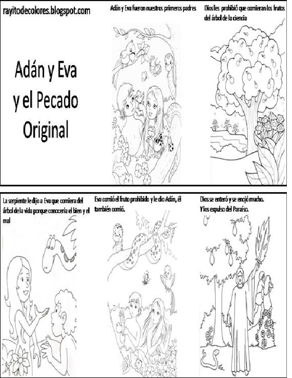 El Pecado Original De Adan Y Eva Para Colorear Imagui ...