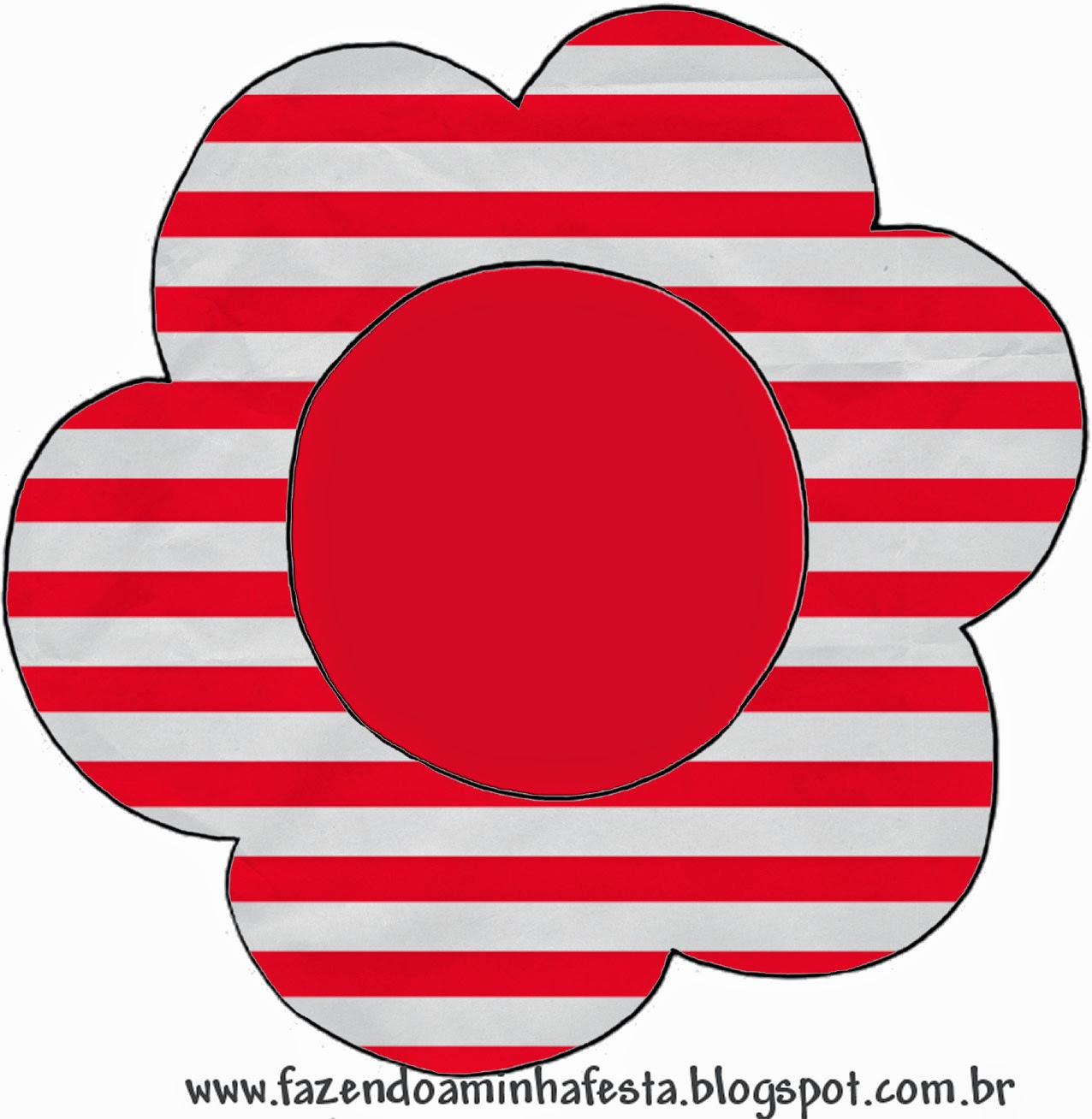 Red and White Stripes: Free Printable Wedding Cupcake Wrappers and Toppers.
