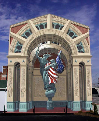 Wall mural of liberty