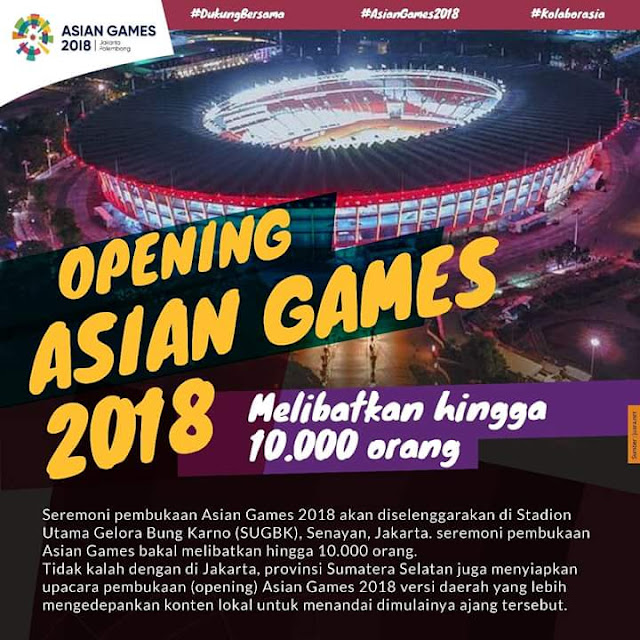 Ceremony Asian Games 2018