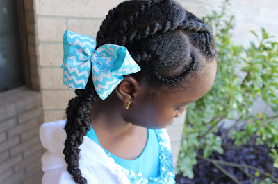 TUTORIAL: Threaded Cornrow Hairstyle (African Threading) Natural Hair Kids