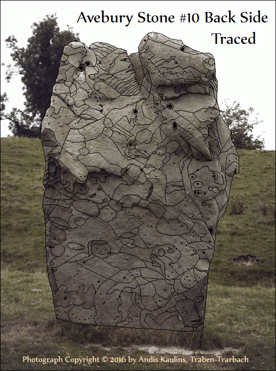 Avebury Stone #10 Back Side Traced by Andis Kaulins