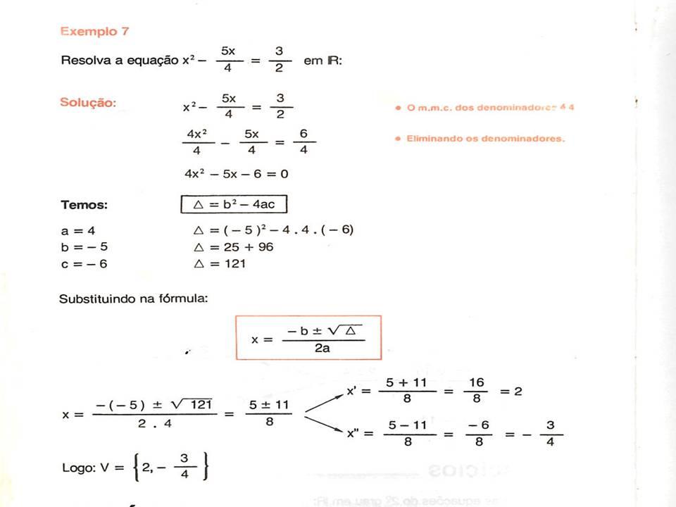 3e534dbcd5d ... fórmula de Bhaskara  EXEMPLOS. EXERCÍCIOS