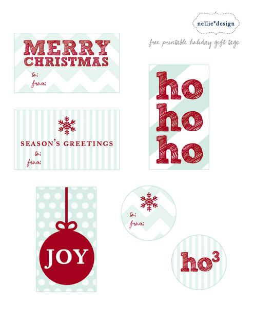 christmas snow printable tags