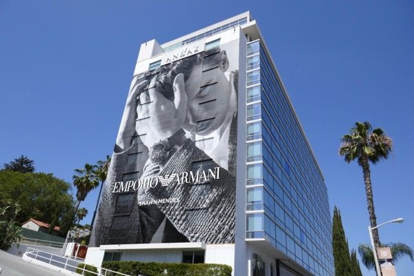 Emporio Armani Shawn Mendes Summer 2018 billboard