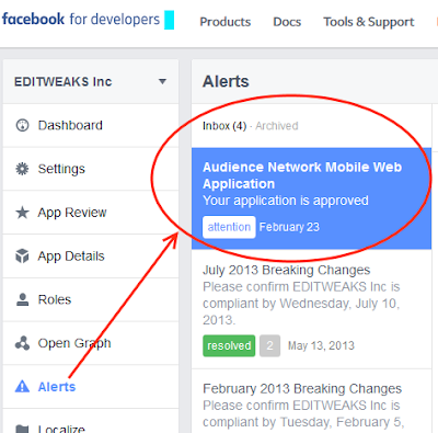 Facebook Audience Network Ads for Blogger blogs