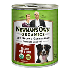 Newman's Own Organics Beef and Liver Canned Dog Food