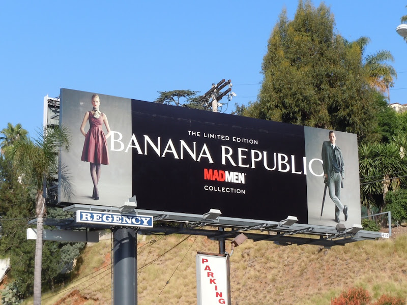 Mad Men Banana Republic billboard