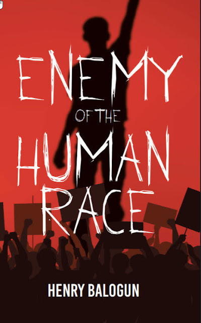 """Enemy of the human race"" - Book Cover"