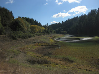 Lake Ranch Reservoir in Sanborn County Park is nearly dry.