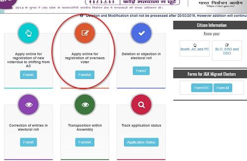 ऑनलाइन माध्यम से मतदाता पहचान पत्र apply कैसे करें। Online Apply For Voter ID Card