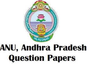ANU Previous Year Question Papers PDF