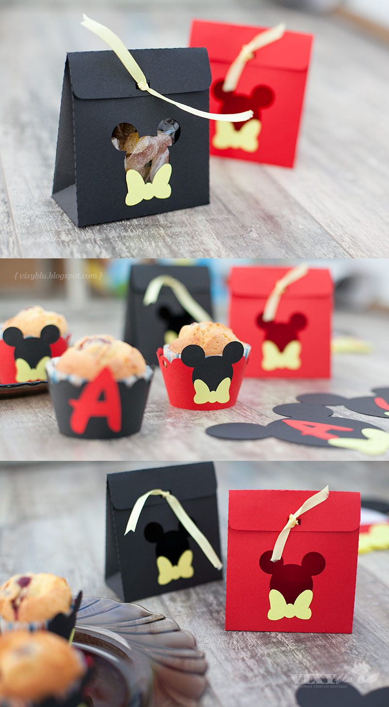 Pungute Mickey Mouse, suport briose/muffins/cupcakes Mickey Mouse