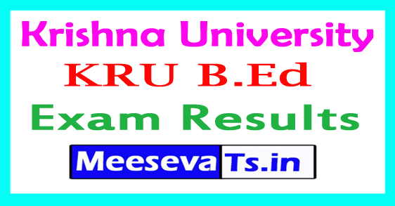 Krishna University KRU B.Ed 4th Sem Results 2017