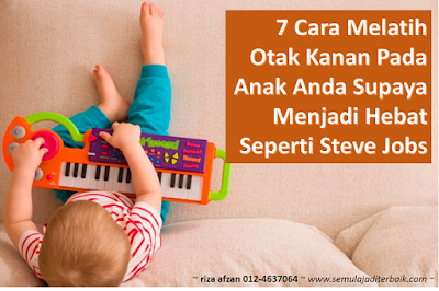 cara melatih otak kanan anak