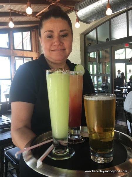 colorful cocktails at Dough Pizzeria Napoletana at Hemisfair in San Antonio, Texas