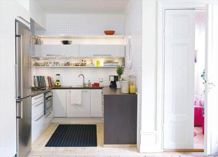 Ideas For Small Apartment Kitchens Layout 2