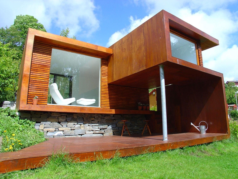 Desain rumah kayu minimalis sederhana dan klasik dengan for Wooden house plans